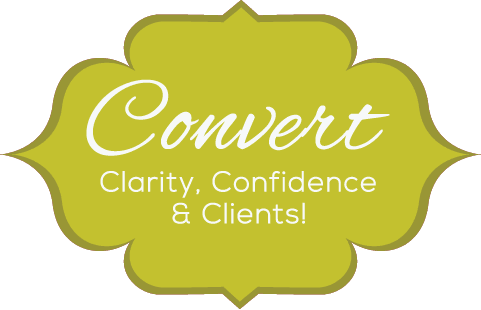 Logo for Convert: Clarity, Confidence & Clients