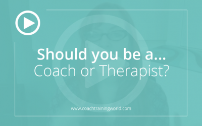 Should you become a coach or therapist?